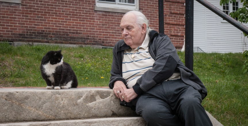 Phil Breton and hiscats
