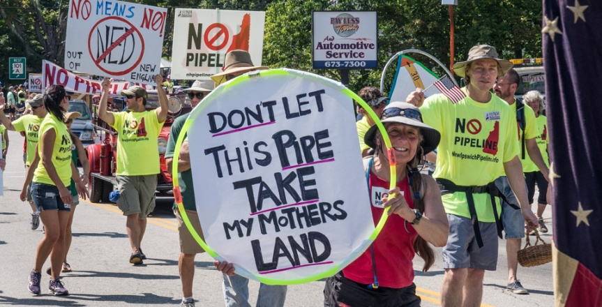 Pipeline Protesters at the Milford Labor Day Parade
