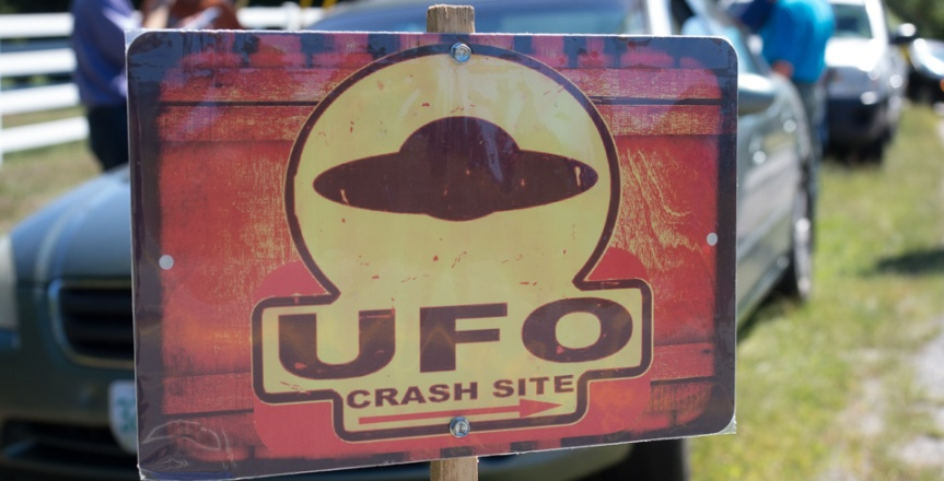 UFO Crash Site sign