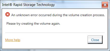 Unknown Error