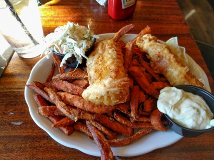 Fish and Chips at The Grog Restaurant in Newburyport. MA