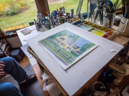 Roland Coates's current project is a commission piece for a client on River Road