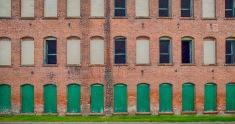 Empty windows of an empty mill in Antrim, NH