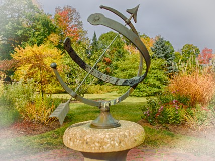 Sundial in the garden