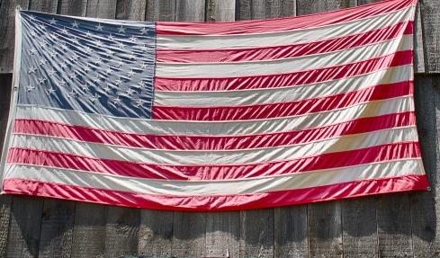 American Flag at Pickity Place, Mason, NH