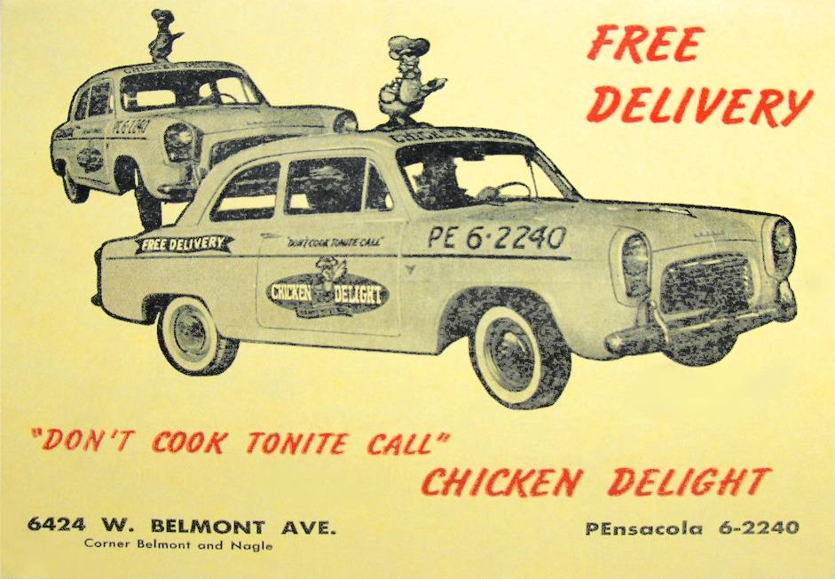 MENU - CHICAGO - CHICKEN DELIGHT - TAKE-OUT AND FREE DELIVERY - COVER